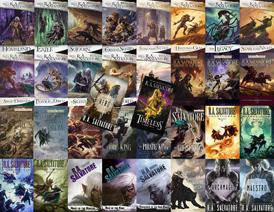 The LEGEND OF DRIZZT Series By R.A. Salvatore (34 MP3 Audiobook Collection)