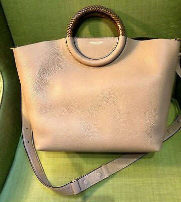 de5f257df396 NEW MICHAEL KORS Skorpios Crescent Pleated Leather Hobo Bag ...