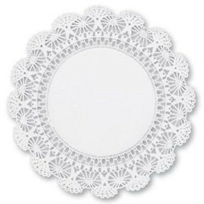 "100 Round White 8"" Cambridge Paper Lace Doilies Wedding Decor Craft Doily"
