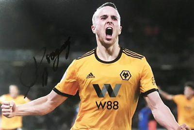 95c30056ca6 Signed Diogo Jota Photograph - Genuine Wolves Fc Autograph +  certificate