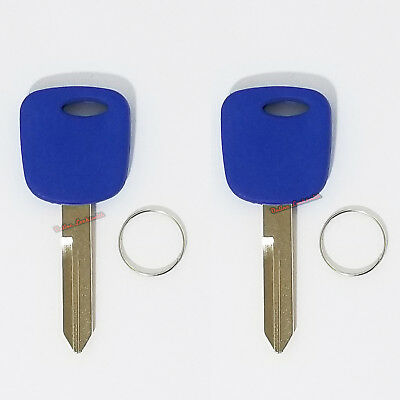 2 Pink Transponder Chip Car Blank Keys Replacement For Ford Lincoln H72 011R0221