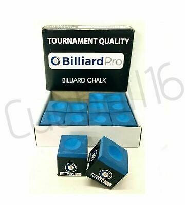 Tournament Quality 1 to 12 PIECES / BOX of BLUE Pool or Snooker Cues Tips CHALKS