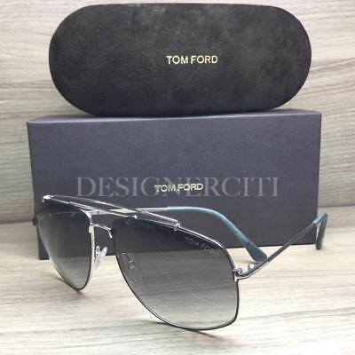 069d142f38d3d7 Tom Ford Georges TF496 496 Sunglasses Matte Black Palladium 18A Authentic  59mm