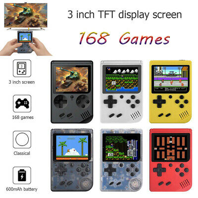 """RS-6A Retro Mini Handheld Game Console 8-Bit 3.0"""" Game Player Built-in 168 Games"""