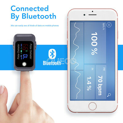 Pulse Oximeter Blood Oxygen SpO2 Bluetooth Finger Tip Heart Rate Monitor Newly