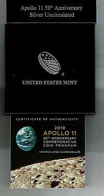 First Hour (12:07) 2019 Apollo 11 50Th Anniversary Uncirculated Silver Dollar
