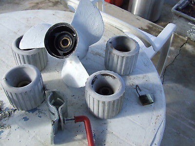 Propeller 15 Splint 115 Yamaha  4  Heavy Duty Roller All In Top Cond