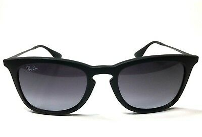 403d571b863 New Ray Ban Square Black Rubber Sunglasses Grey Gradient Lens RB4221 622 8G