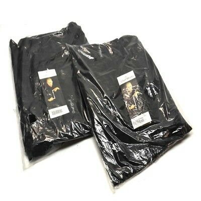 """(2) NEW Chef Works NBBP-000-4XL Black Baggy Designer chef Pants """"4X-Large"""""""