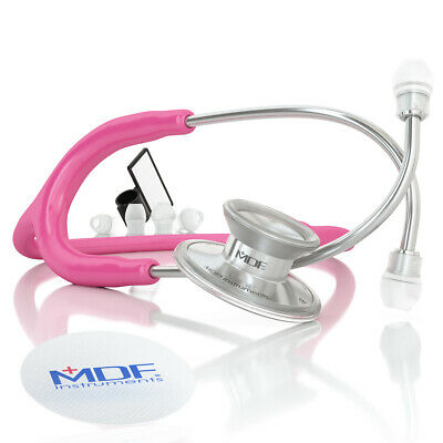 MDF747XP Acoustica Lightweight Dual Head Stethoscope - Cosmo (Pink)