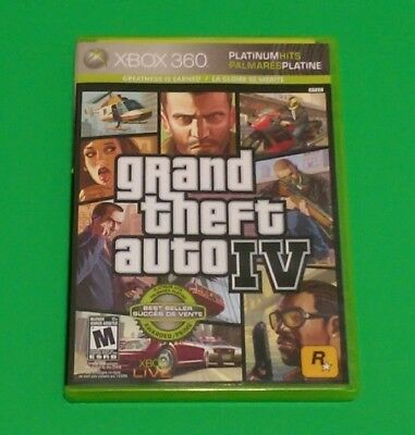 Grand Theft Auto IV (Xbox 360) Complete GTA4 GREAT CONDITION
