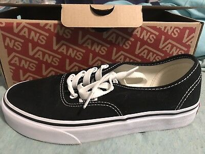 Vans Authentic Kids Girls Boys Classic Shoes Black White Brand New Size 4.5