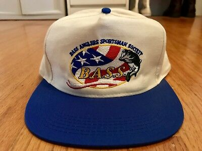 Vintage Bass Anglers Sportsman Society Snapback Hat Fishing Cap