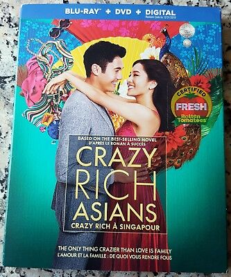 CRAZY RICH ASIANS Slipcover BLU RAY ONLY Henry Golding Constance Wu Gemma Chan