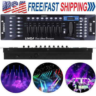 Lixada 192 Channels DMX512 Controller Console for Stage Light Operator Equipment