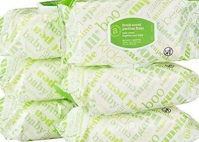 Elements Baby Wipes, Fresh Scent, Sensitive, Unscented, 480 Count Flip-Top Packs