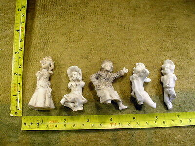 5 x excavated vintage victorian damaged Doll parts age 1860 Germany Art 12341