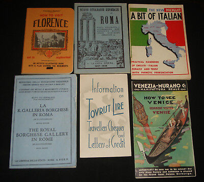 18 x 1930s - 1950 ITALY TOURIST BOOKLETS / PAMPHLETS Genoa Rome Florence Venice