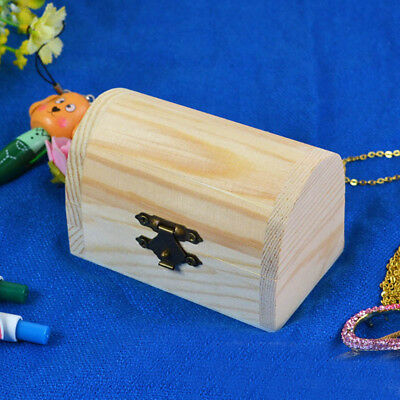 08B1 Vintage Wooden Box Container Jewellery Memory Chest Trinket Personalized