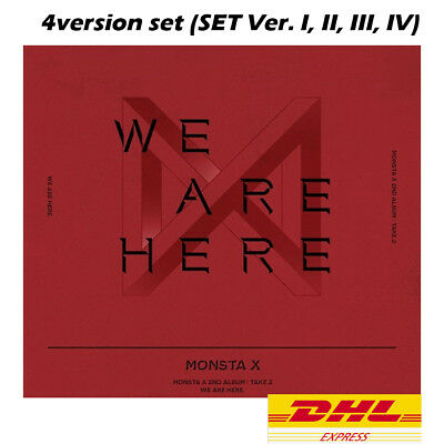 MONSTA X 2nd Album -  TAKE.2 WE ARE HERE [I + II + III + IV = 4Album set]+DHL