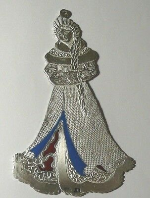 Decoration Pendant Fir-Tree Snow Maiden Silver 84 Enamel Imperial Russia Moscow