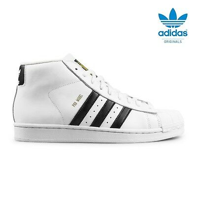 outlet store 63035 677f2 adidas SUPERSTAR originals pro model scarpe ginnastica uomo donna bianca  S85956