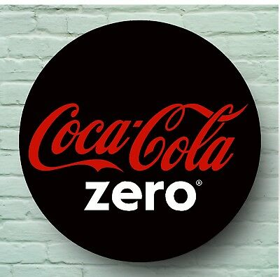 Large 2Ft Coca Cola Zero Logo Sign Retro Picture Bar Pub Cafe Catering Logo