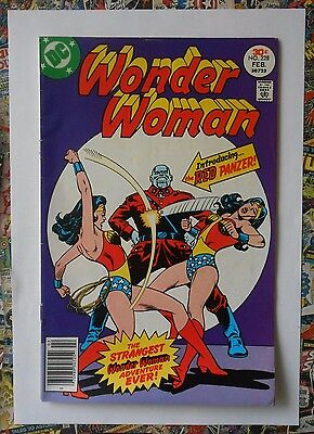 WONDER WOMAN #228 - FEB 1977 - 1st RED PANZER APPEARANCE! - VFN+ (8.5)