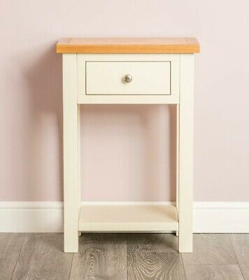 Farrow Cream Telephone Table - Small Console Table - 1 Drawer Hall Table