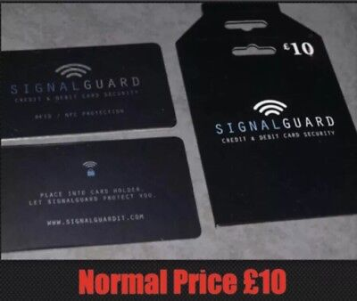 Signal Guard. Protects illegal Wireless Credit Card Readers Stealing Details
