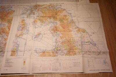 Aeronautical Chart Icad 1:500,000 Sheet 2171Ab Edition 5 Northern England 1978