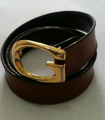 e2ca356de7da GUCCI LEATHER BELT- Ceinture Gucci - Cintura Gucci - EUR 73,00 ...