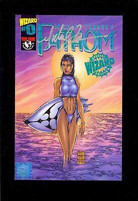 Fathom #0 Signed Green Foil Limited Edition Michael Turner Wizard  Comic Kings