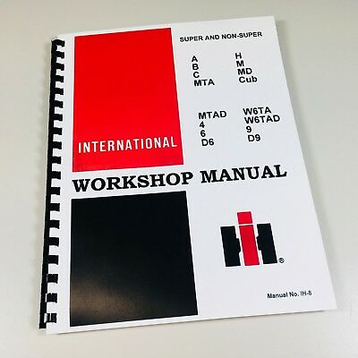 A Super A International Farmall Tractor Technical Service Shop Repair Manual Ih