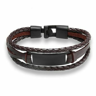 Fashion Men Leather Bracelet Bangle Genuine Leather Hand Chain Friendship Luxury