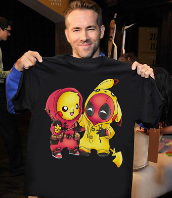 b1e4bd94b POKEMON PIKACHU MARVEL Deadpool Pikapool Mashup Adult T-Shirts Men's ...
