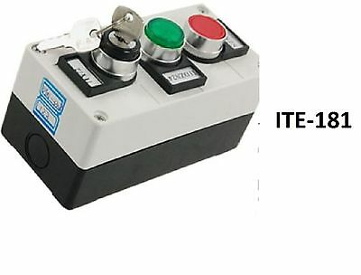 On-off Rotary Selector Switch w Key Push Button Station
