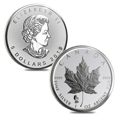 Lot of 2 - 2019 1 oz Silver Canadian Maple Leaf Phonograph Privy Reverse Proof