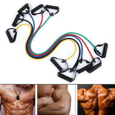Latex Elastic Resistance Band Pilates Tube Pull Rope Yoga Fitness Equipment LY
