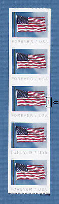 *NEW* 2019 US Flag PNC5 Plate P1111 (Vert. Coil Strip of 5 - APU) 2019 MNH
