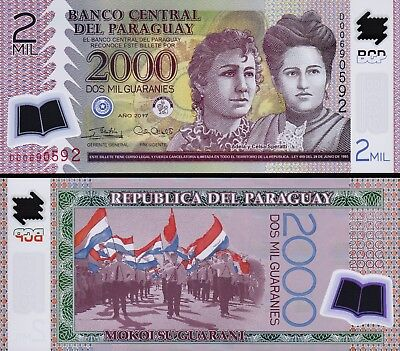 Paraguay 2000 Guaranies 2017 (2018), UNC, 20 Pcs LOT. P-228 NEW SIGN, D, POLYMER