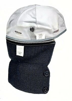 MSA ZERO HOOD Zipper Type Hood Winter Liner With Lug Helmet Warm RN # 119354