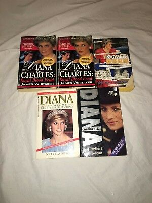 Princess Diana Books Novels Lot Of Five 5 Paper Back Books