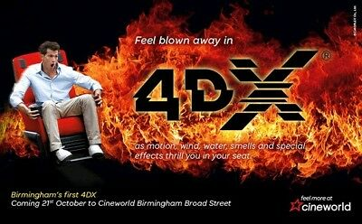 Cineworld Ticket E-Codes Cinema for 4DX, and IMAX - QUICK AND CHEAP