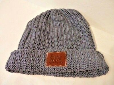 32bcc471403 Brand New LOVE YOUR MELON Slate Knit Beanie Hat ~ WINTER STYLE ~ SNOW   COLD