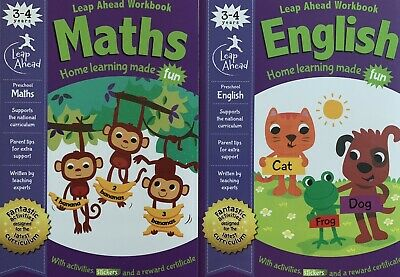 Leap Ahead Maths English 2 Workbooks For 3-4 Years, Pre School, Reception Kids