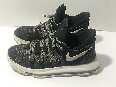 sale retailer 680e9 66441 ... nike kd 10 size 6 us basketball shoes kevin durant black white