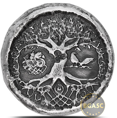 1 oz Silver Celtic Tree of Life MK BarZ .999+ Fine 3D Art Round - IN-STOCK!!