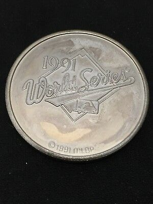 1 Troy Ounce .999 Fine Silver 1991 World Series Twins Coin C1