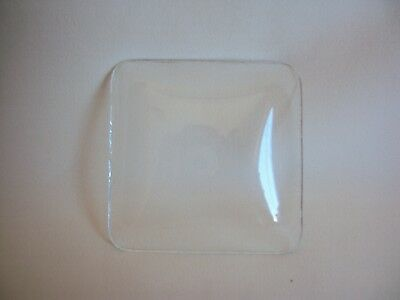 Vintage Small Square Convex Glass For Clock